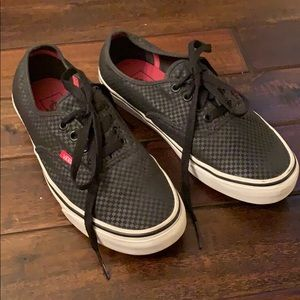 Classic Black Checkered Vans Lace Ups